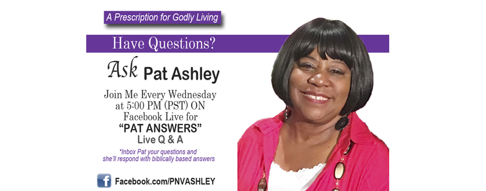 Ask Pat Ashley on Facebook Live!